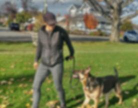 Pam training German Shepherd.jpg