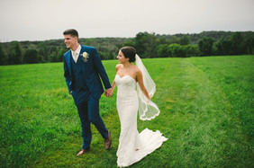 French Blue Suit Wedding