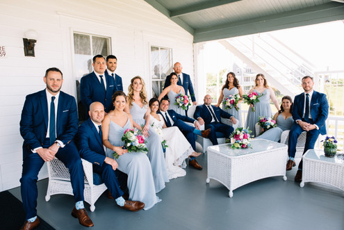 Navy Suits Wedding Party