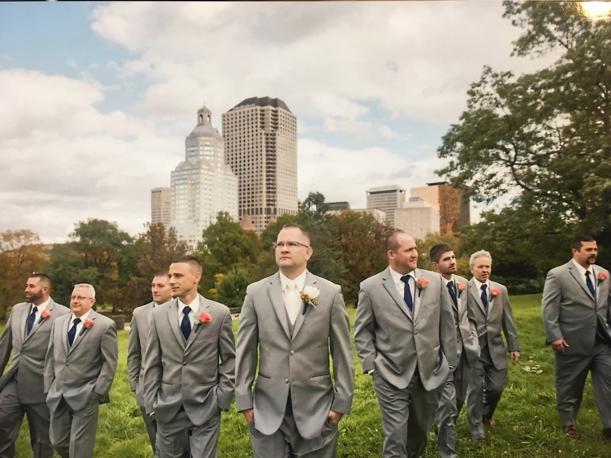 Light Gray Tuxedo Wedding