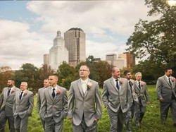 Light Gray Tuxedo Wedding