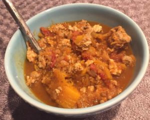 Butternut Squash, Apple and Turkey Chili