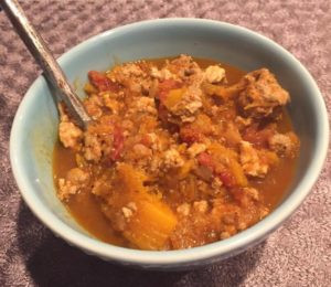 Butternut Squash, Apple and Turkey Chili