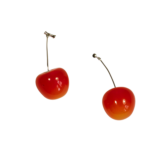 Realistic Sweet Cherry Earrings