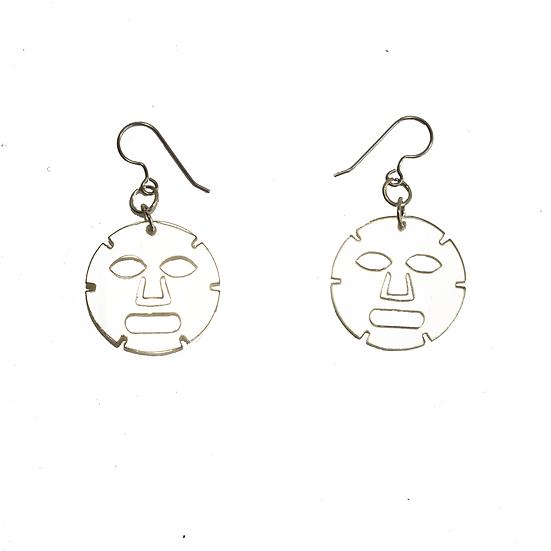 Mirror Acrylic Face Mask Earrings