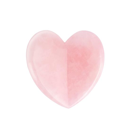 Natural Rose Quartz Heart Shape Facial Gua Sha Tool