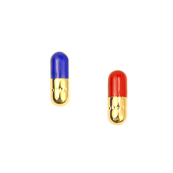 Blue and Red Pills Earrings