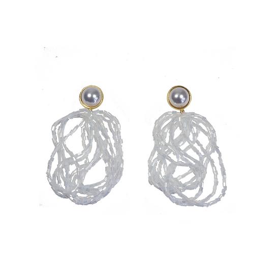 Vintage Beaded String Earrings