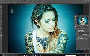 Alice im Wunderland Tattoo Style von Nina Strobel