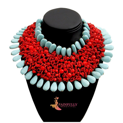 Red and Blue Necklace or Black and White Necklace