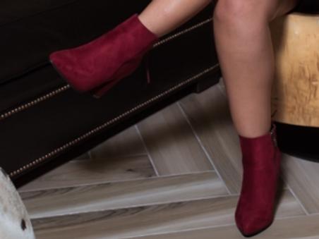 Burgundy Bootie Heel