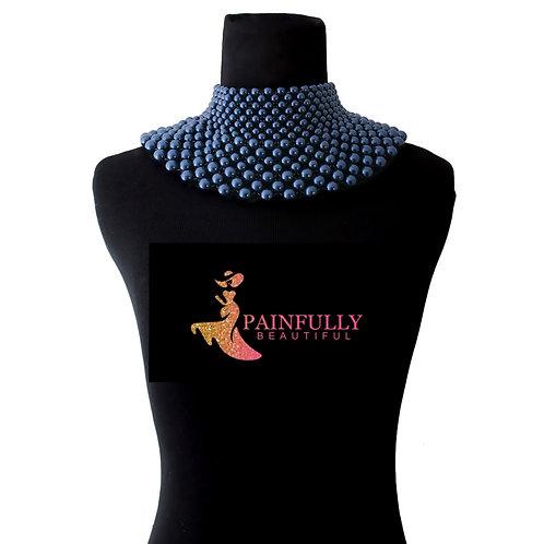 Navy Blue Goddess Necklace
