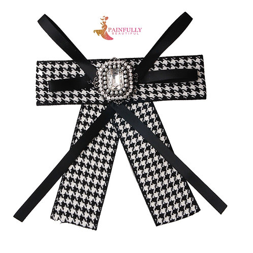 Black and White Women's Bow Tie