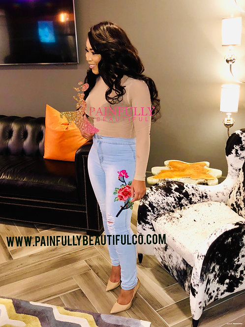 Rose bud high waist Jeans