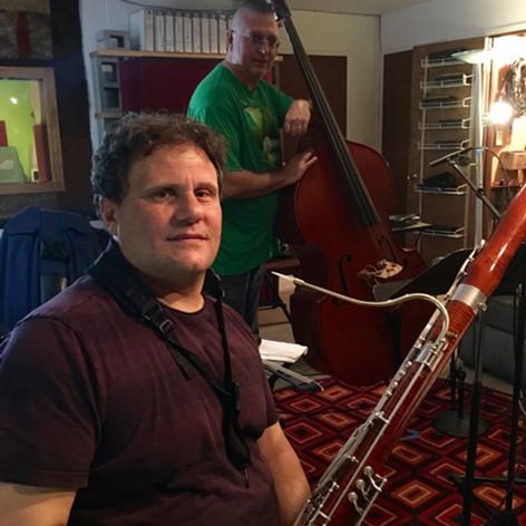 recording with Derek Jones-his album
