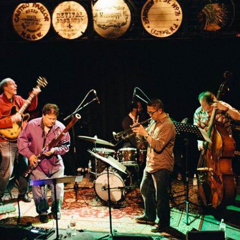 Joel Harrison, Cuong Vu, Brian Blade and the band
