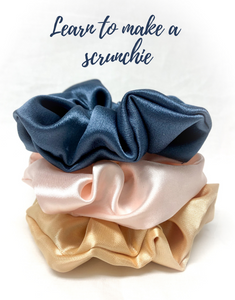 Learn how to DIY a scrunchie hair tie