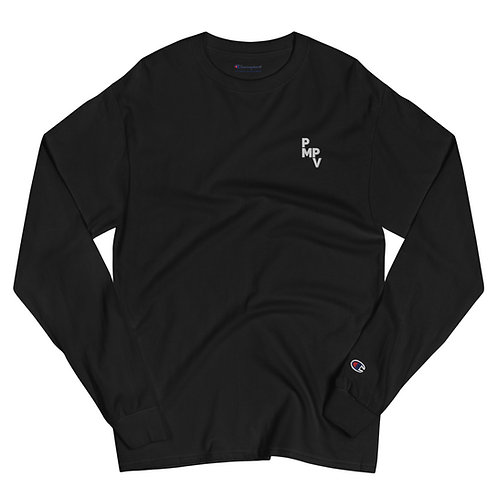 Men's Champion Black Long Sleeve Shirt