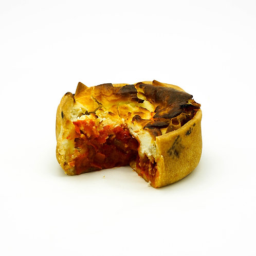 Roasted Red Pepper and Goats Cheese Croustade