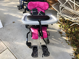 Pink children's activity chair