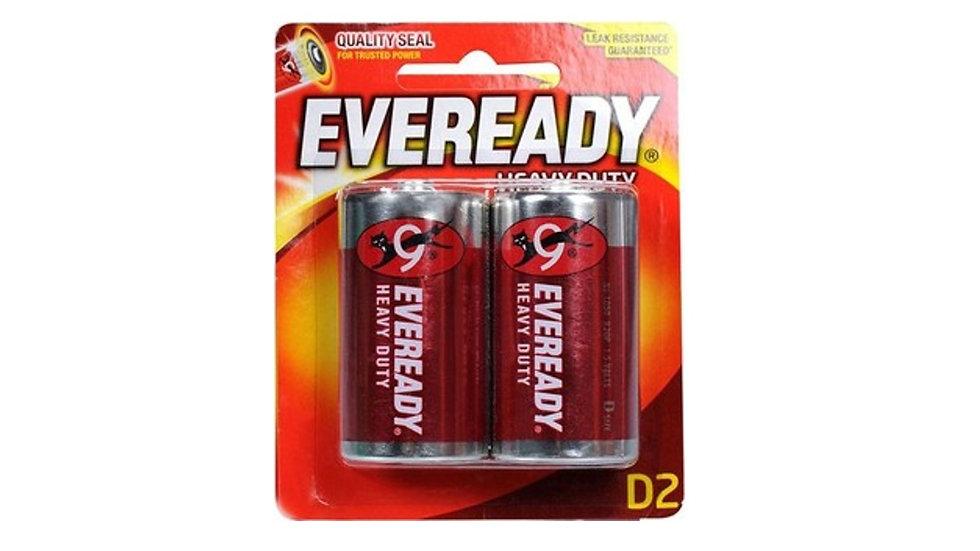 Everyday Battery Heavy Duty D 2 Pcs