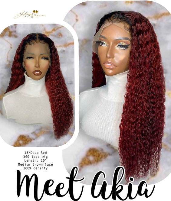 """""""Akia"""" Pre-plucked 360 Lace Frontal Wig Curly Virgin Human Hair (BW365)"""
