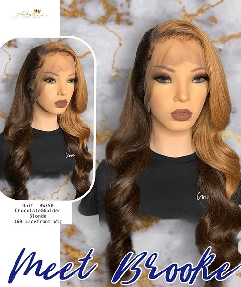 """Brooke"" Pre-plucked 360 Chocolate w/ Golden Blonde Wig (BW350)"