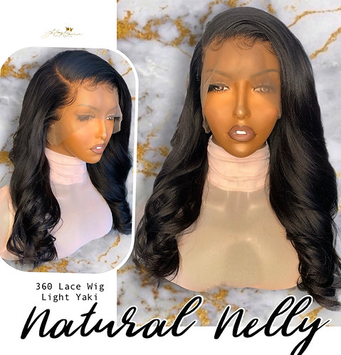 """Natural Nelly"" 360 Lace Frontal Wig- Yaki Hair (YK115)"