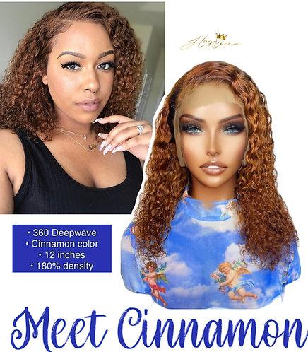 """Cinnamon"" Asymmetrical Naturally Curly BOB Virgin Human Hair (CK101)"
