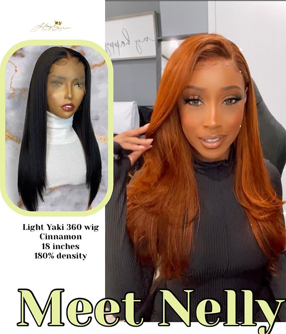 """""""Natural Nelly"""" 360 Lace Frontal Wig- Yaki Hair (YK115)"""