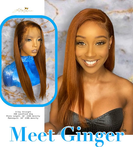 """Ginger"" Pre-plucked 360 Lace Frontal Wig (SS445)"