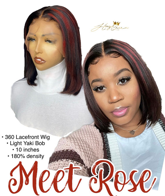 """Rose"" 360 Lace Frontal Wig- Yaki Hair (YK)"