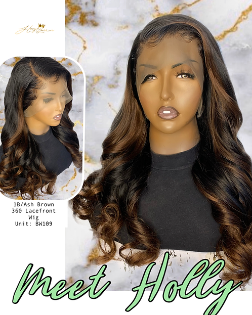 """""""Holly"""" Pre-plucked 360 OMBRE Lace Frontal Wig (BW109)"""