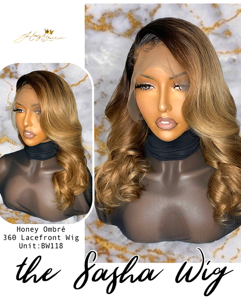 """""""Sasha"""" Pre-plucked 360 Honey Ombre Lace Frontal Wig (BW118)"""