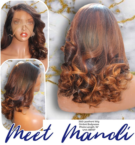 """""""Mandi"""" Pre-plucked 360 Lace Frontal OMBRE Wig (Bb107)"""