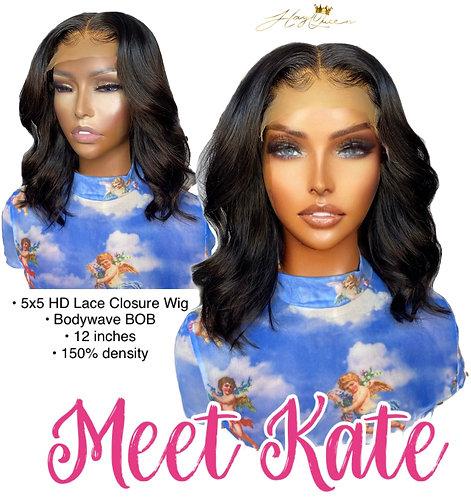 """Kate"" Pre-plucked 5X5 Closure Wig Body Wave Virgin Human Hair"