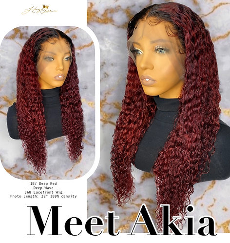 """Akia"" Pre-plucked 360 Lace Frontal Wig Curly Virgin Human Hair (BW365)"