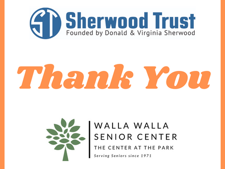 Sherwood Trusts Awards Grant to Walla Walla Senior Center