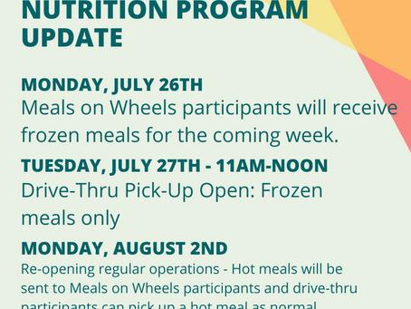 Update: Nutrition Program
