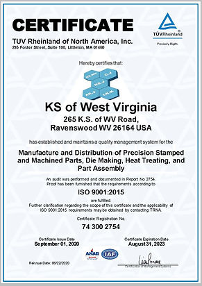KS of West Virginia ISO 9001-2015 A4 Eng