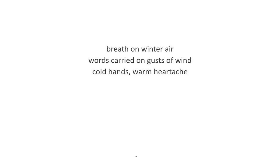 HAIKU | #PoesyTuesday Jan 19, 2021 | PRINT