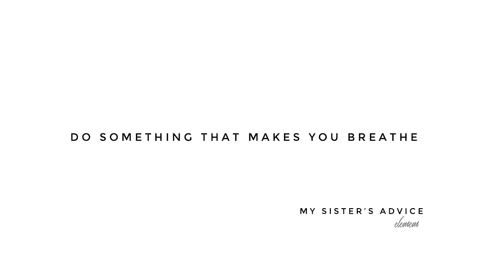 My Sister's Advice | glls | Print