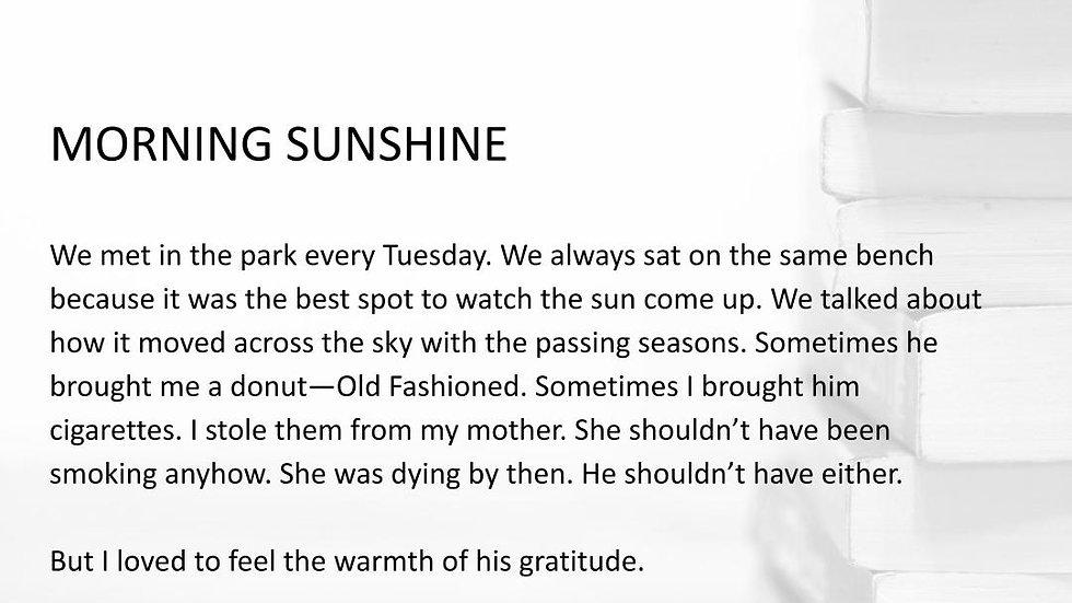 MORNING SUNSHINE | #250WordThursday | PRINT SET