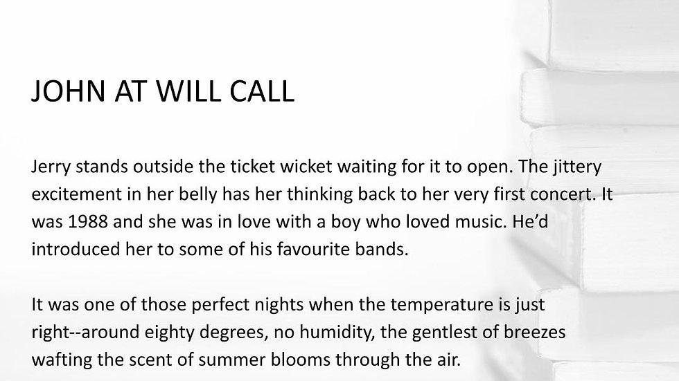 JOHN AT WILL CALL | #250WordThursday | PRINT SET