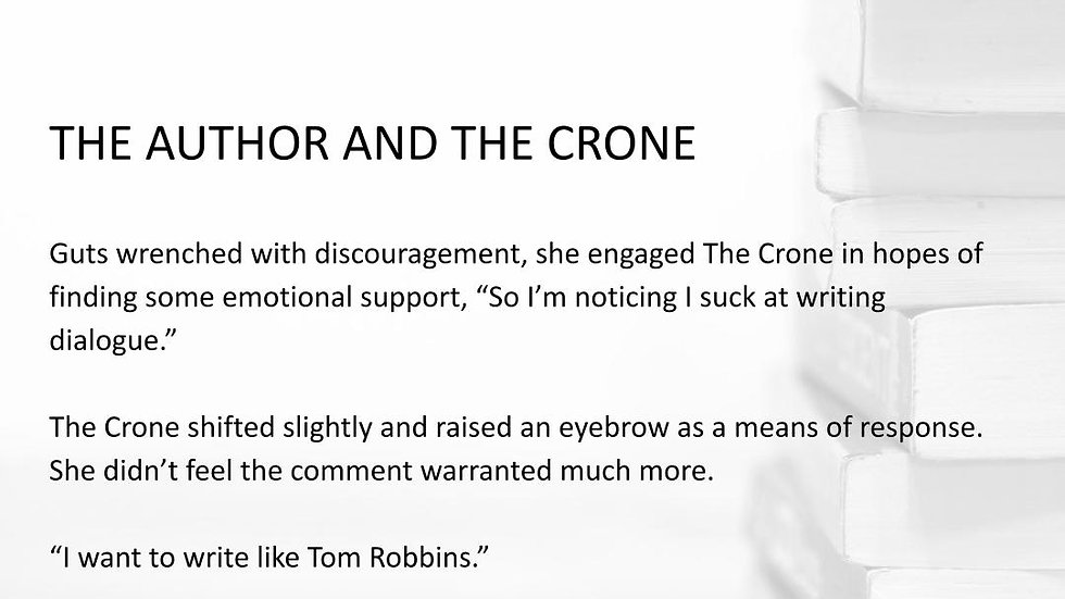 THE AUTHOR AND THE CRONE  | #250WordThursday | PRINT SET