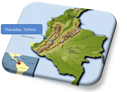 Colombia coffee map