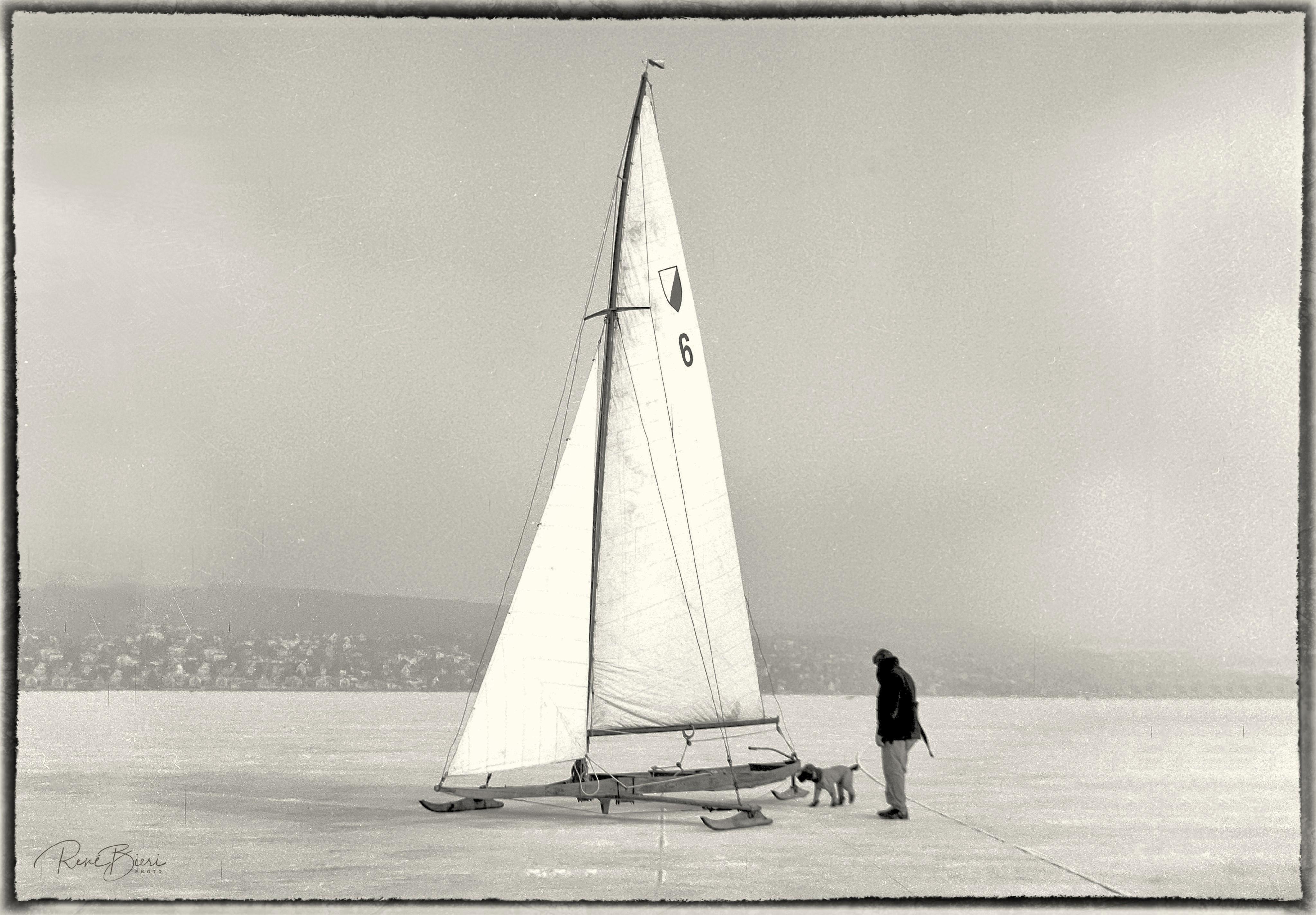 Eissegeln auf dem Zürichsee