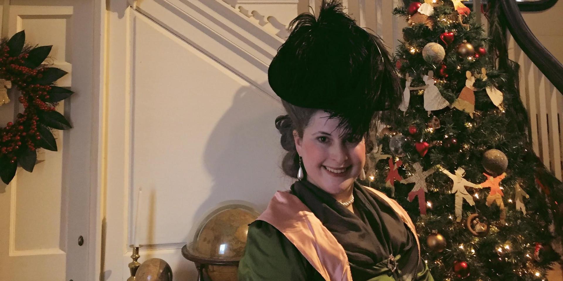 Portrayal of Rebecca Franks at Woodford Mansion December 2019
