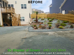 Synthetic Lawn - BEFORE