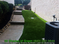 Residential Synthetic Lawn Landscape